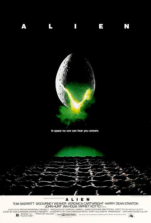 Original Theatrical Movie Poster Art Cinema Film 1979 Alien