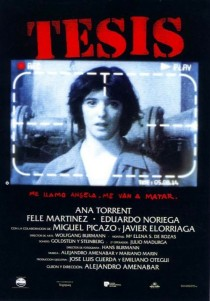 1996 Thesis Tesis Movie Film Cinema Poster Art Advance Teaser Theatrical