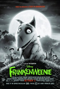 2012 Frankenweenie Movie Film Cinema Poster Art Advance Teaser Theatrical